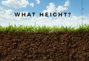 Grass & Soil Height Graphic - Lawn Pros of Racine & Kenosha