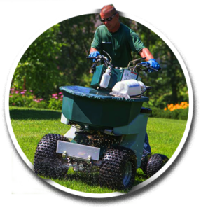 Racine Landscaper Riding Fertilizer Machine - Lawn Pros